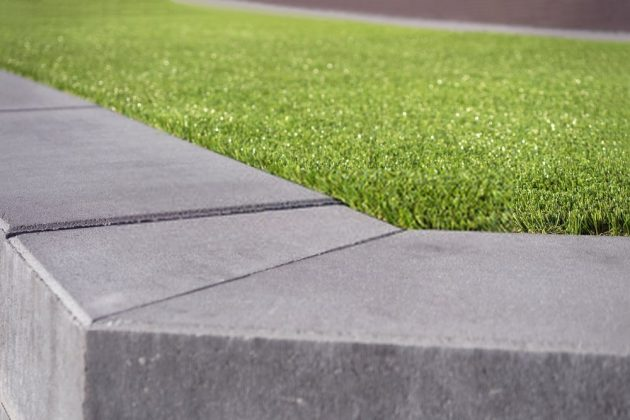laying artificial grass on concrete